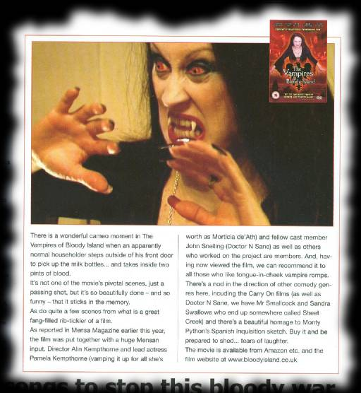 Mensa Magazine reviews The Vampires of Bloody Island