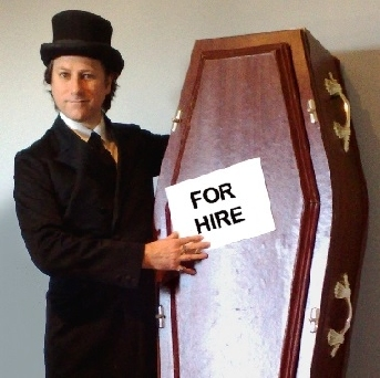 Coffin prop hire for films
